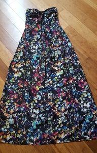 Long Strapless/Halter Dress
